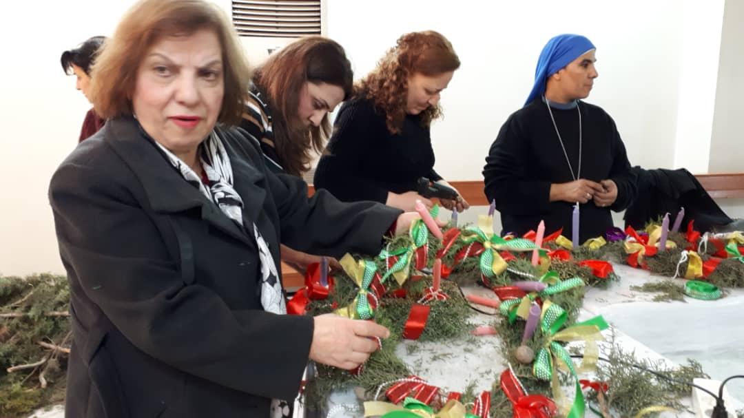 أكاليل زمن المجيء في حلب – سوريا