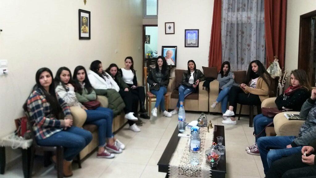 اجتماع مجموعة القديس يوحنا بولص الثاني في غزة