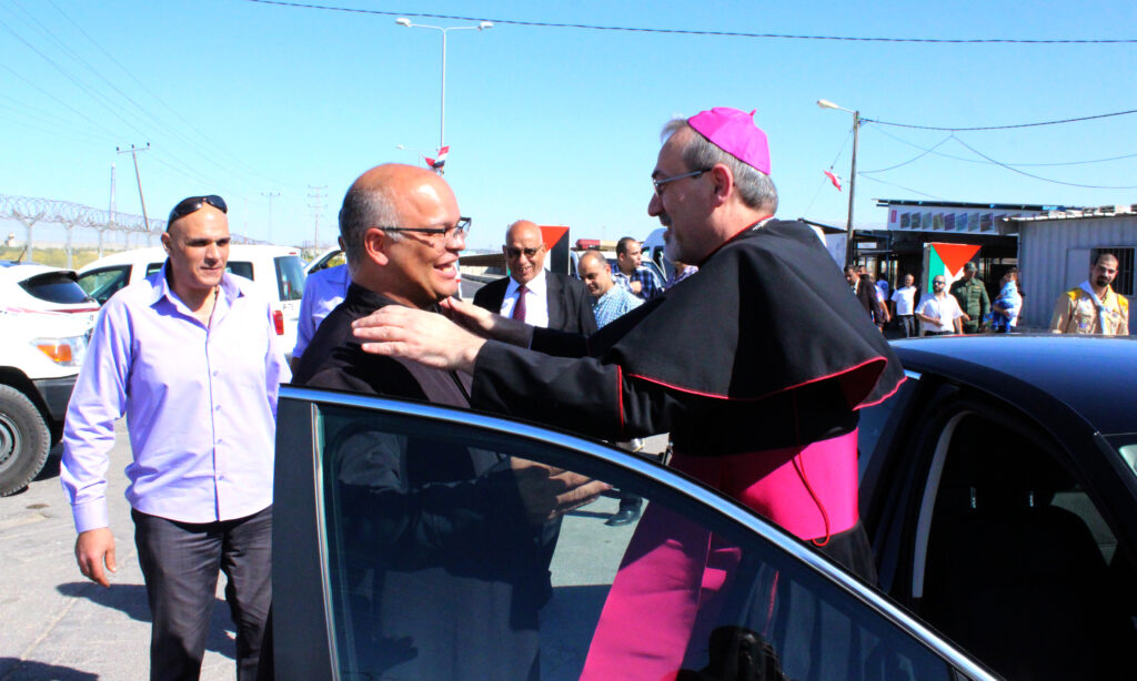 زيارة الأسقف بيرباتيستا بيتزابالا ، المدبر الرسولي للبطريركية اللاتينية في القدس الى غزة