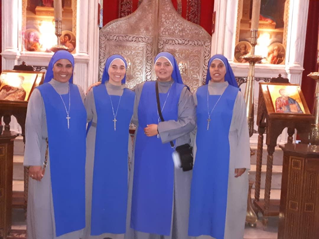 زيارة اخواتنا الراهبات في حلب الى  اخواتنا في دمشق – سوريا