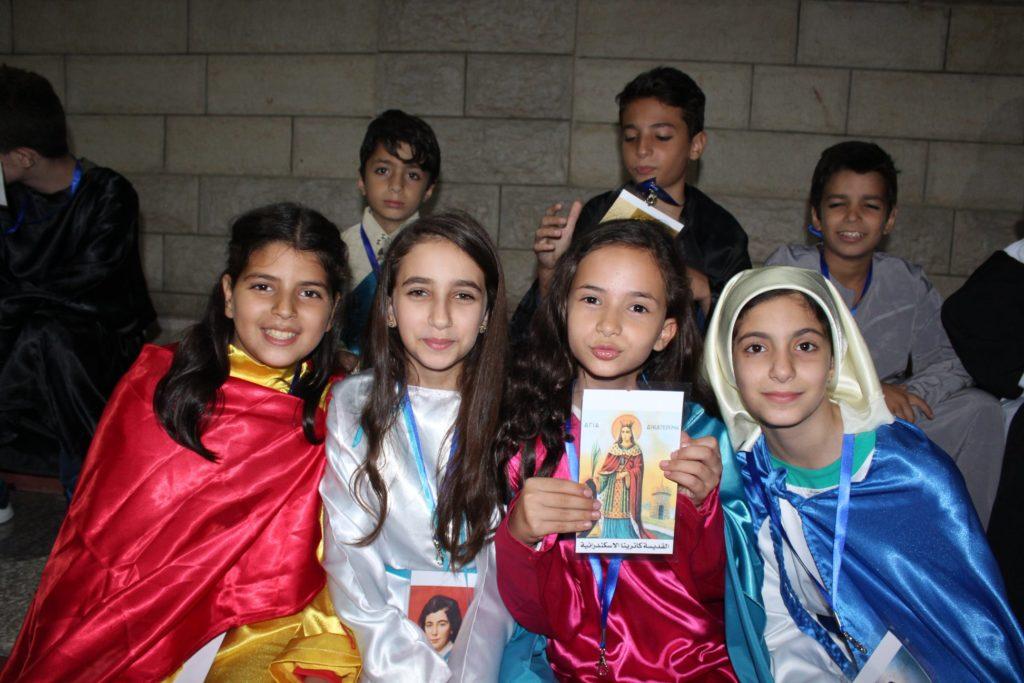 أحتفال بعيد جميع القديسين مع الشباب والاطفال في رعية غزة