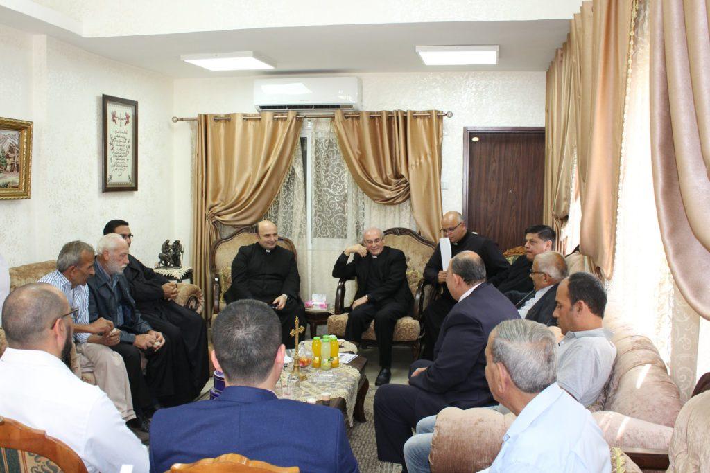 زيارة السفير البابوي ليوبولدوا جيريلي مدينة غزة – فلسطين