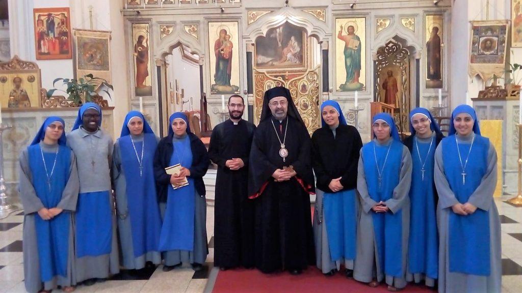 قداس مع بطريرك الاقباط الكاثوليك في روما
