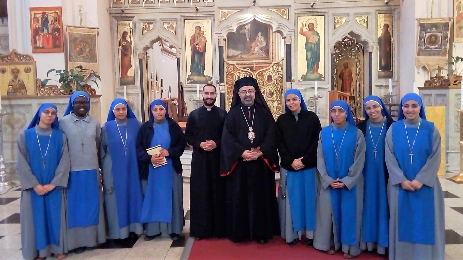 Misa con el Patriarca Copto católica en Roma