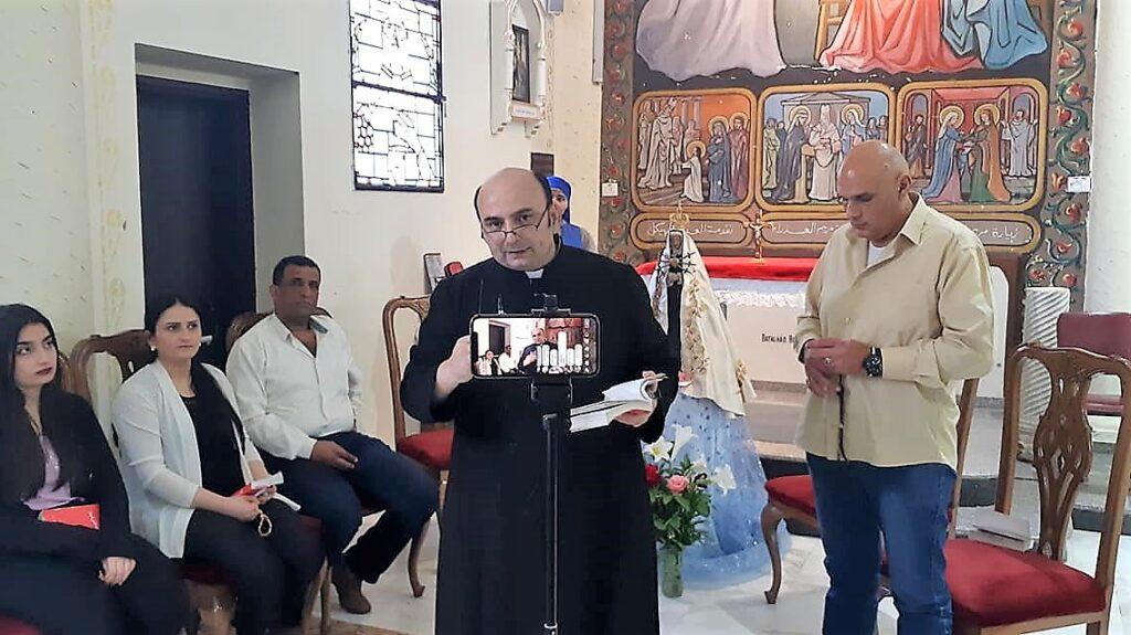 أوراتوريو القديس يوسف في غزة خلال شهر ايار ، شهر مريم ، 2020