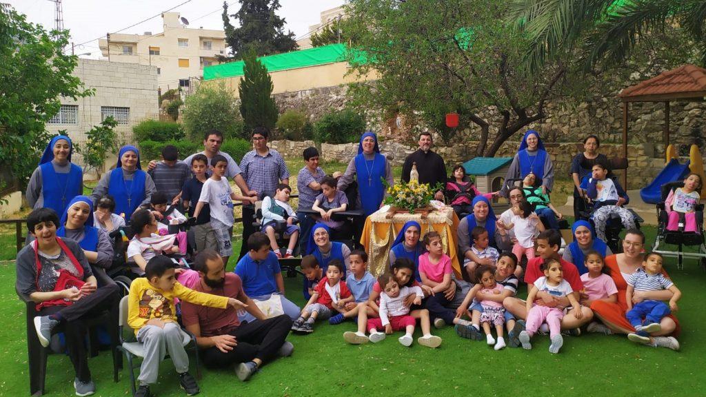 احتفال بمناسبة عيد مريم العذراء سيدة فاطمة في بيت لحم