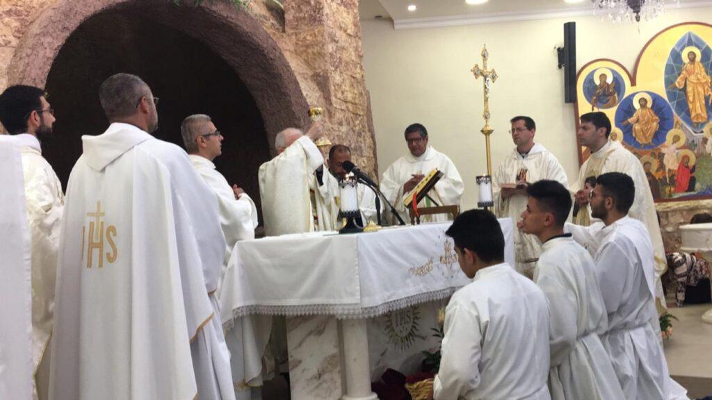 Fiesta en el Santuario de Nuestra Señora del Monte – Ánjara- Jordania