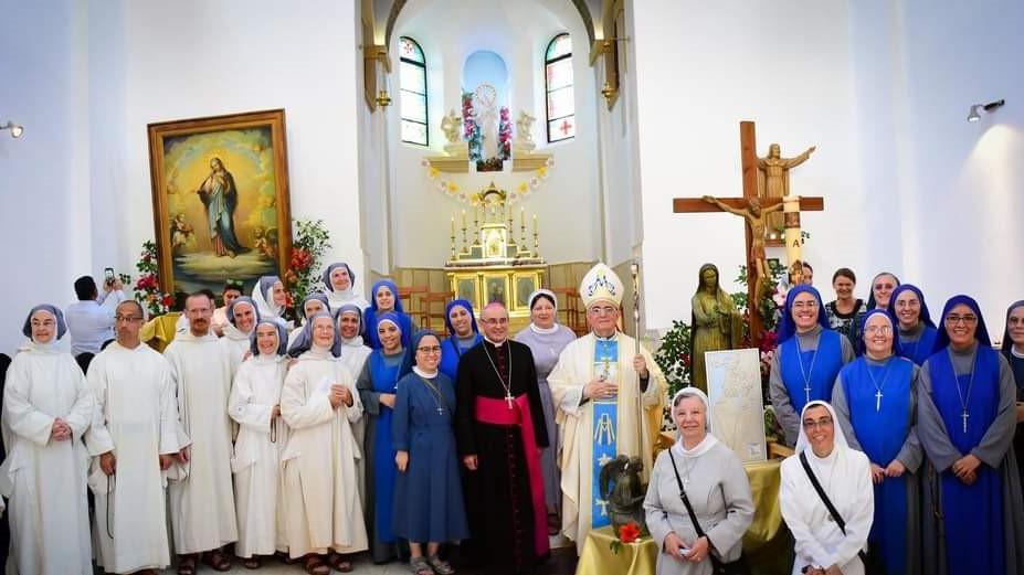 Fiesta de Nuestra Señora de Palestina en Deir Rafat en Jerusalén
