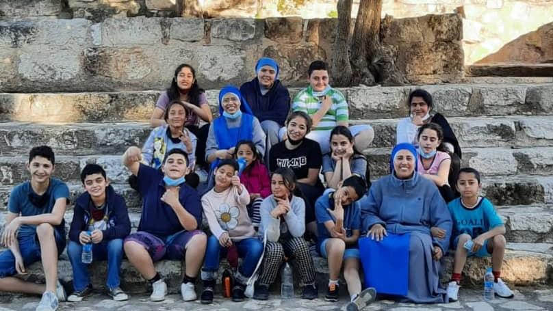 Read more about the article رحلة بيت الاطفال في عنجرة الى مار الياس في الوهادنة – الأردن
