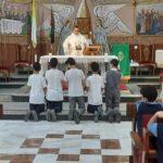 قداس لطلاب المدرسة في غزة – فلسطين